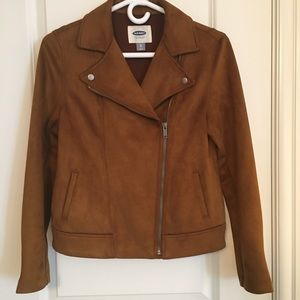 Old Navy Faux Suede Moto Jacket.